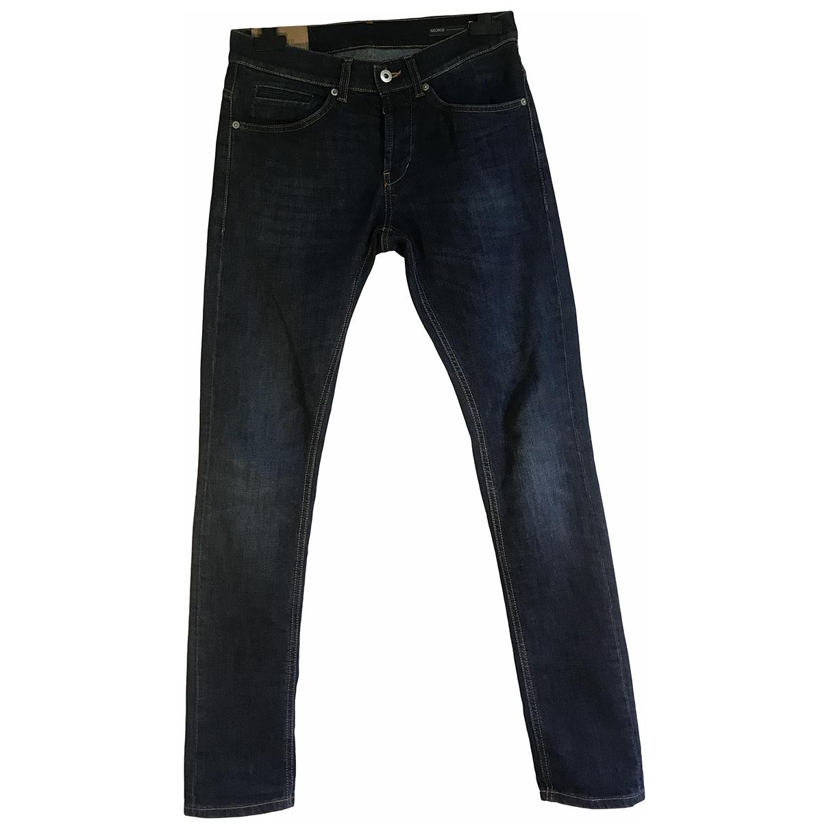 Dondup \N Blue Cotton - elasthane Jeans for Men 30 US