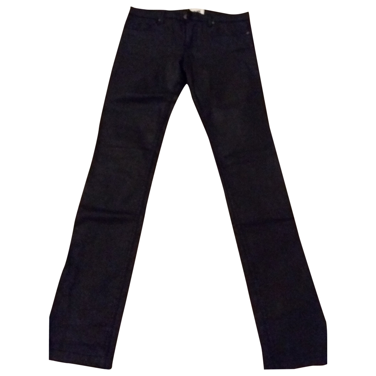 Bel Air \N Black Cotton Trousers for Women 36 FR