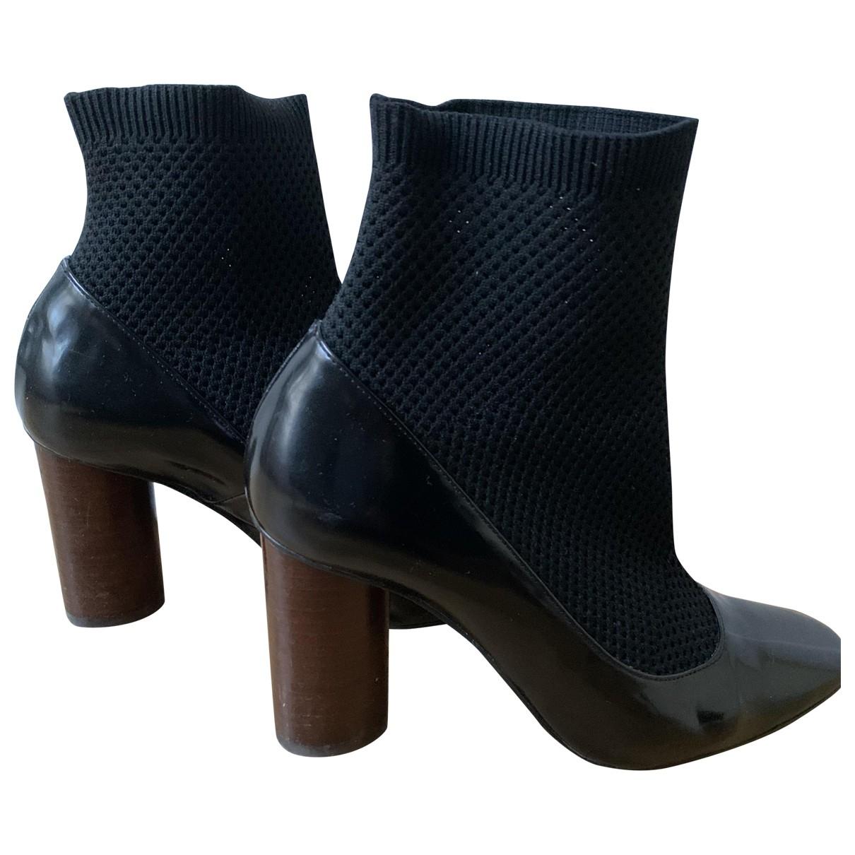 Claudie Pierlot \N Black Leather Ankle boots for Women 37 EU