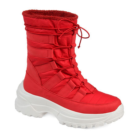 Journee Collection Womens Icey Winter Boots, 6 Medium, Red