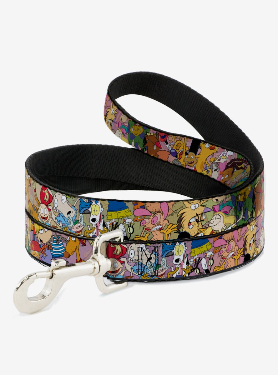 Nickelodeon 90's Rewind Character Mash Up Collage Dog Leash