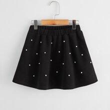 Girls Pearls Beaded Skirt