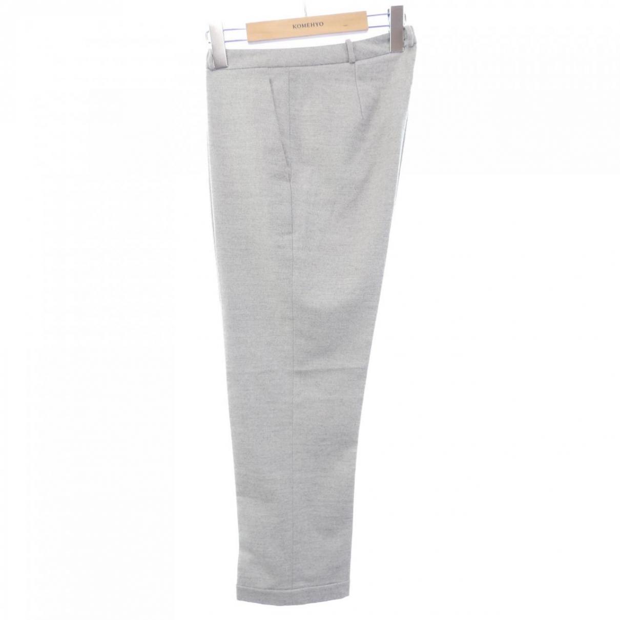 Jil Sander \N Grey Wool Trousers for Women M International