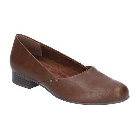Easy Street Womens Peace Pumps Block Heel, 6 1/2 Medium, Brown