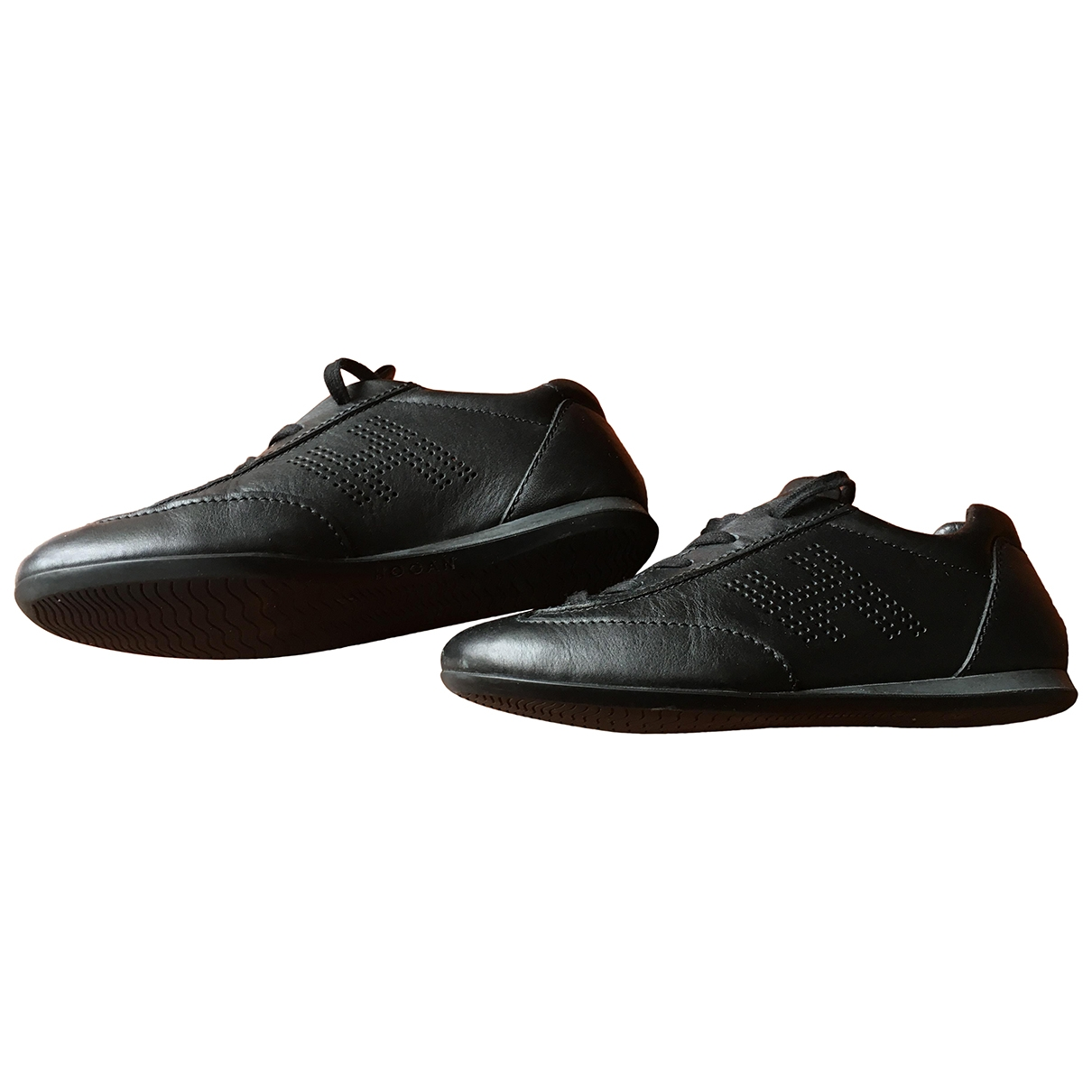 Hogan \N Black Leather Trainers for Women 35.5 IT
