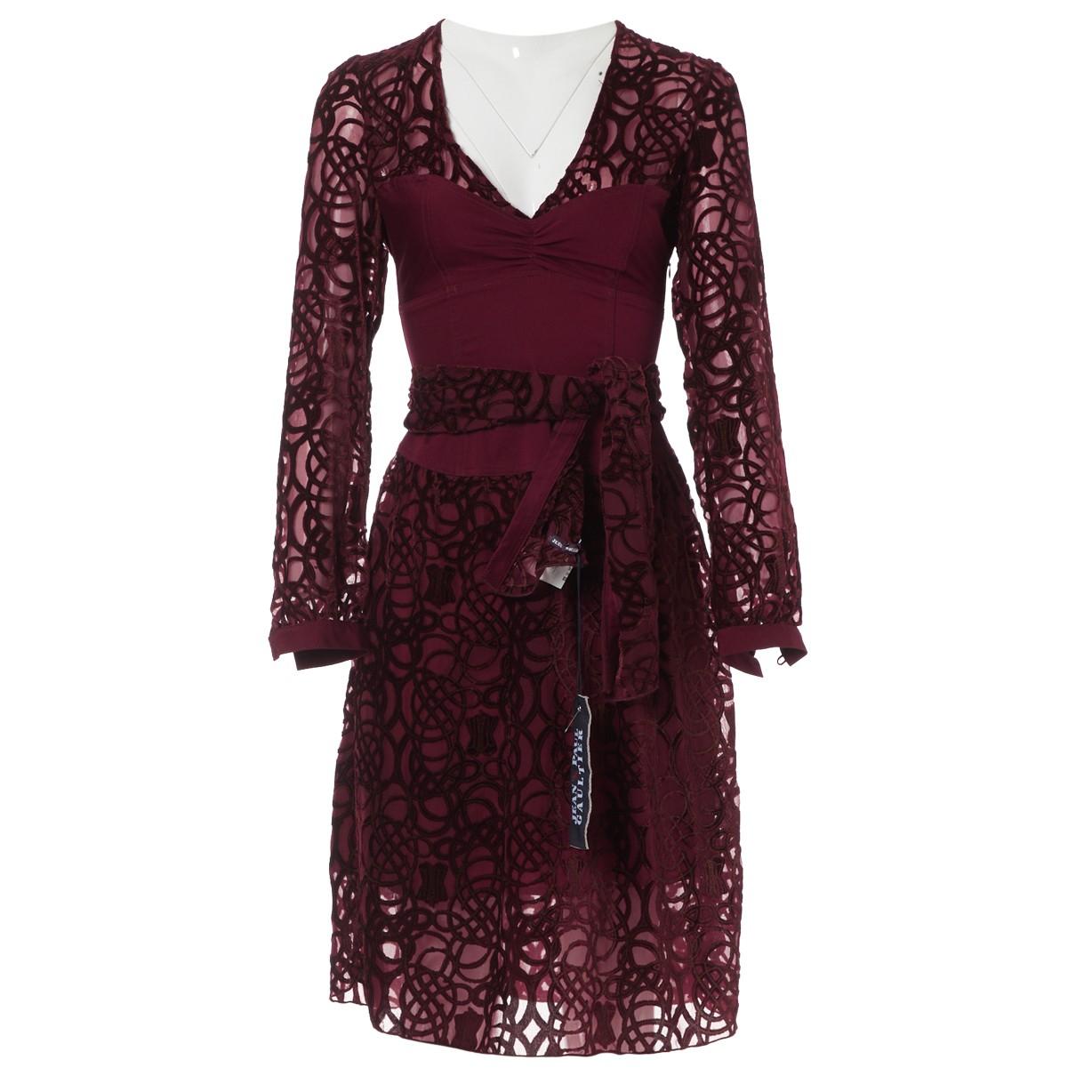 Jean Paul Gaultier \N Burgundy dress for Women 42 FR