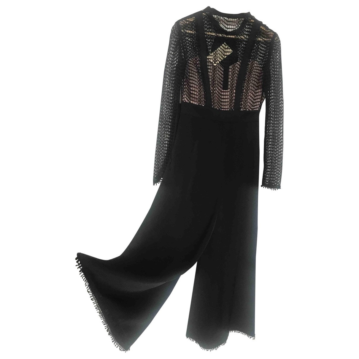 Temperley London \N Black Silk jumpsuit for Women 8 UK