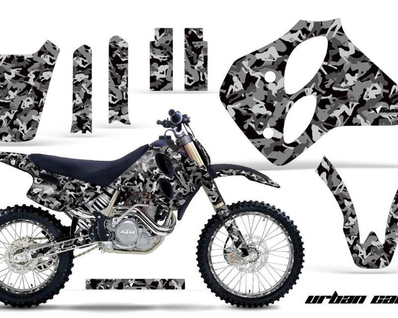 AMR Racing Graphics MX-NP-KTM-C0-93-97-UC K Kit Decal Sticker Wrap + # Plates For KTM SX/XC/EXC/LC4 1993-1997áURBAN CAMO BLACK