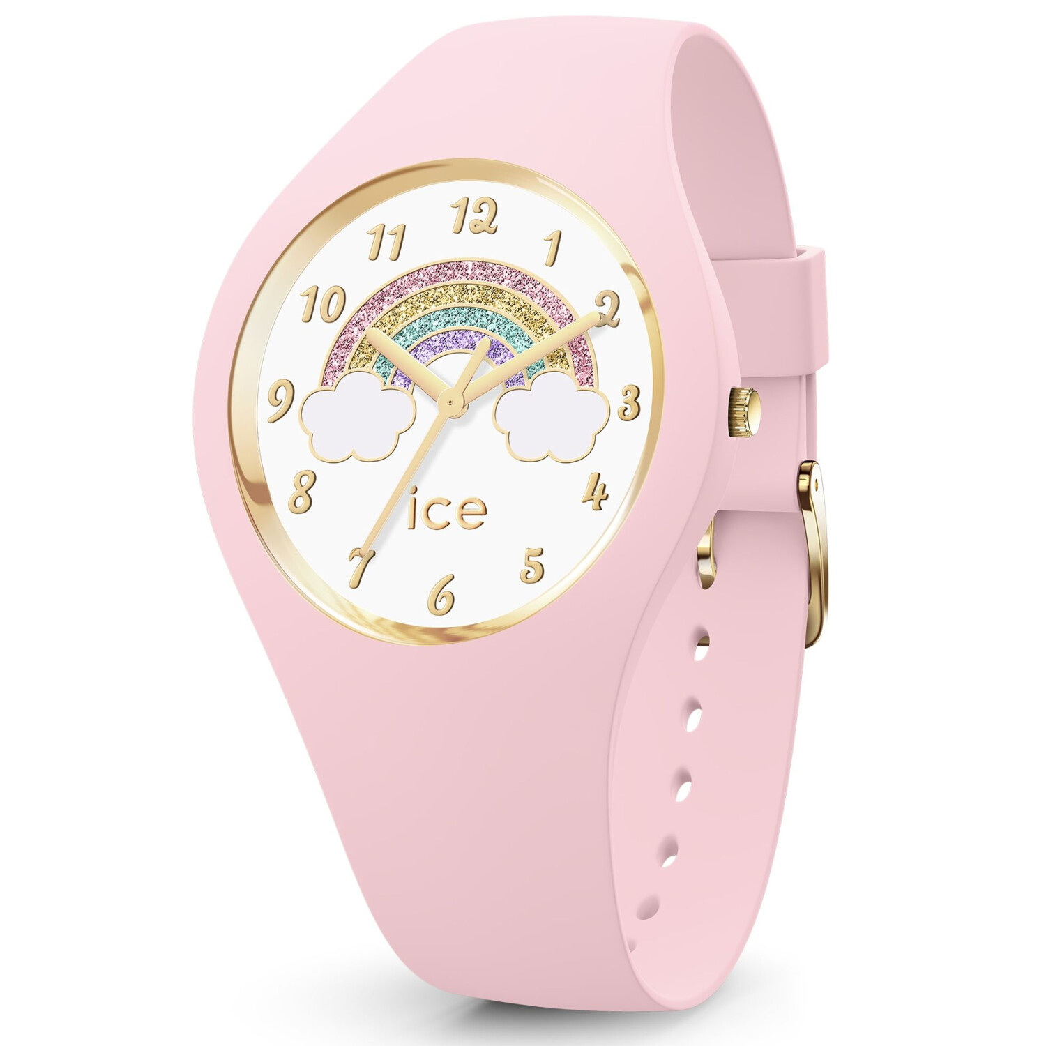 Ice-Watch Girl's Fantasia 017890 Pink Silicone Quartz Fashion Watch