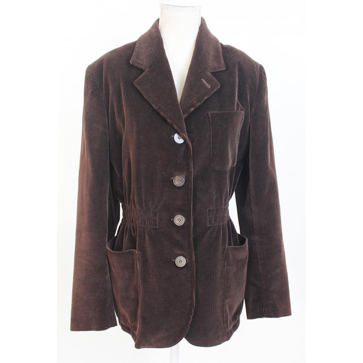 Jean Paul Gaultier \N Brown Velvet jacket for Women 44 IT