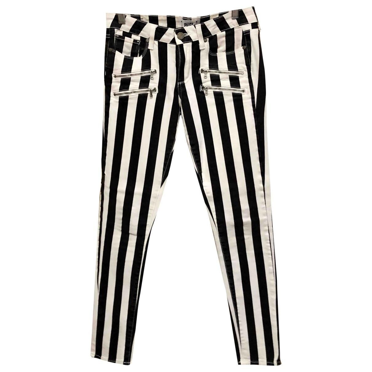Paige Jeans \N Black Cotton Jeans for Women 28 US