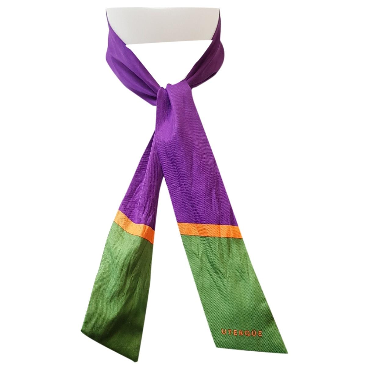 Uterque \N Purple Silk scarf for Women \N