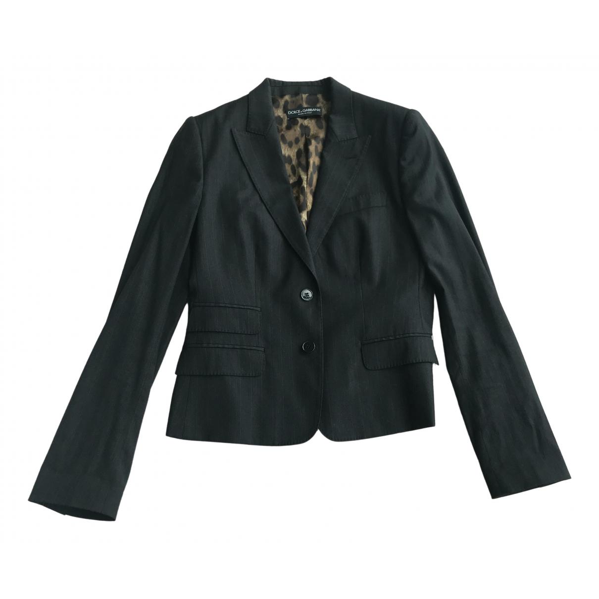 Dolce & Gabbana \N Grey Wool jacket for Women 42 IT