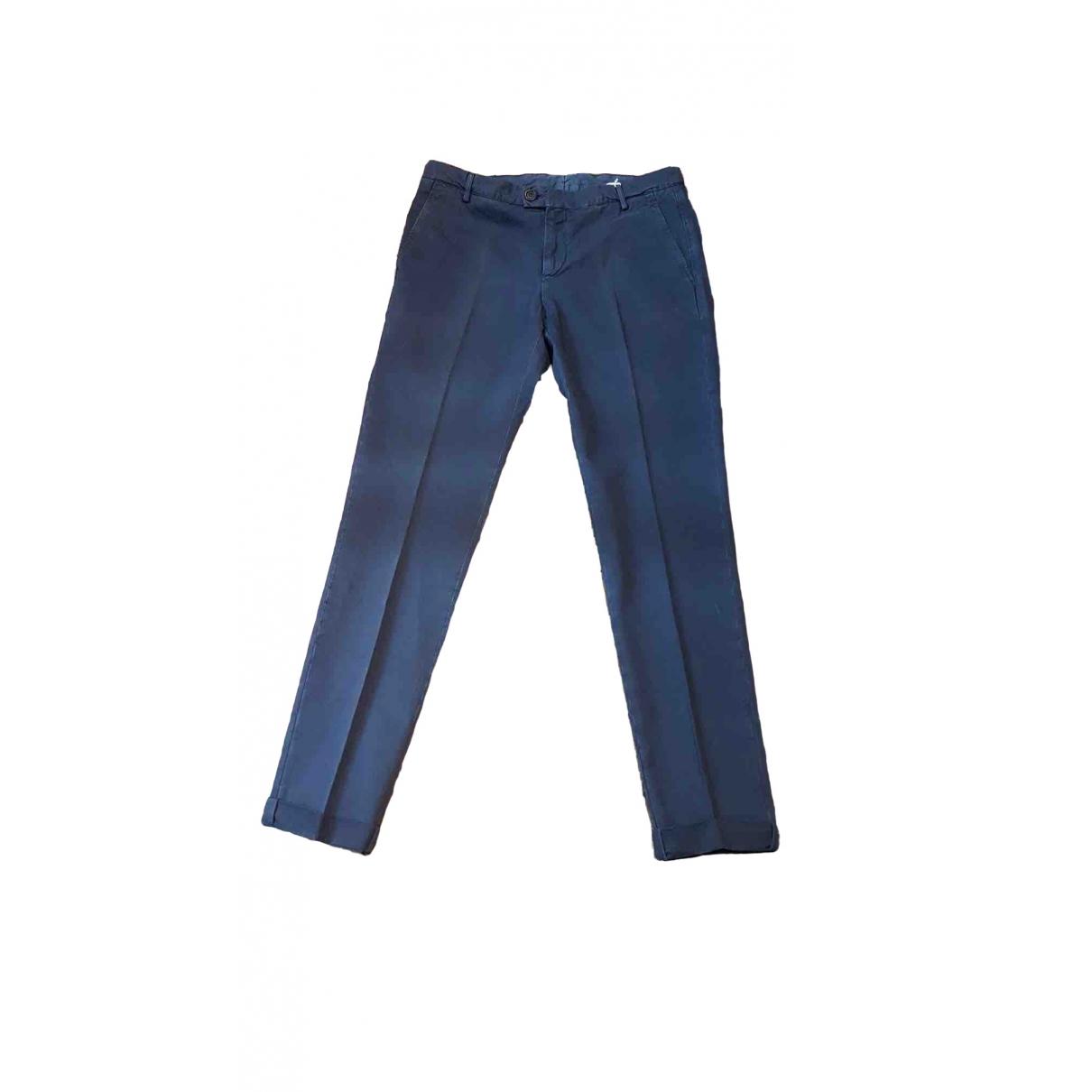 Brunello Cucinelli \N Blue Cotton Trousers for Men 54 IT