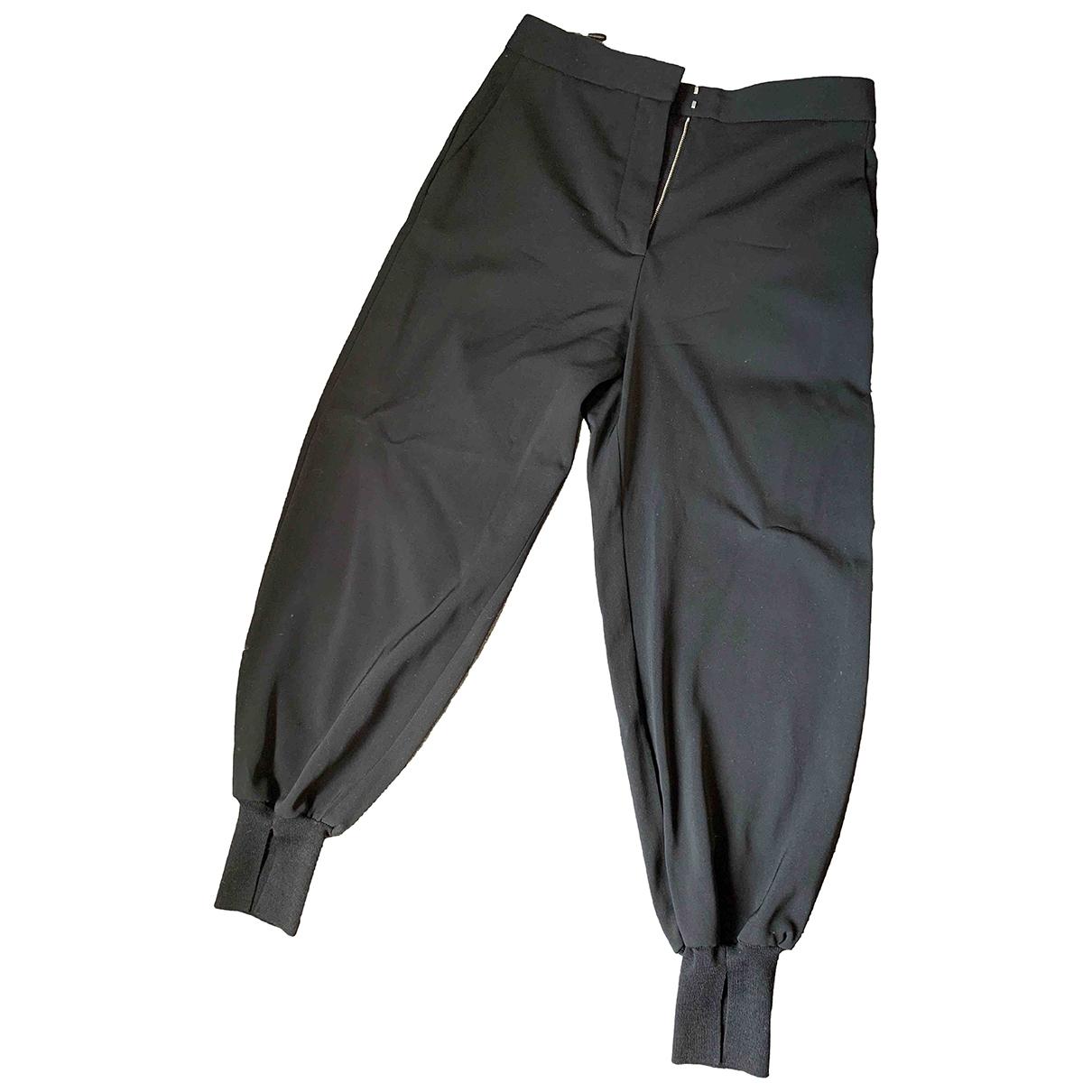Stella Mccartney \N Black Wool Trousers for Women 42 IT