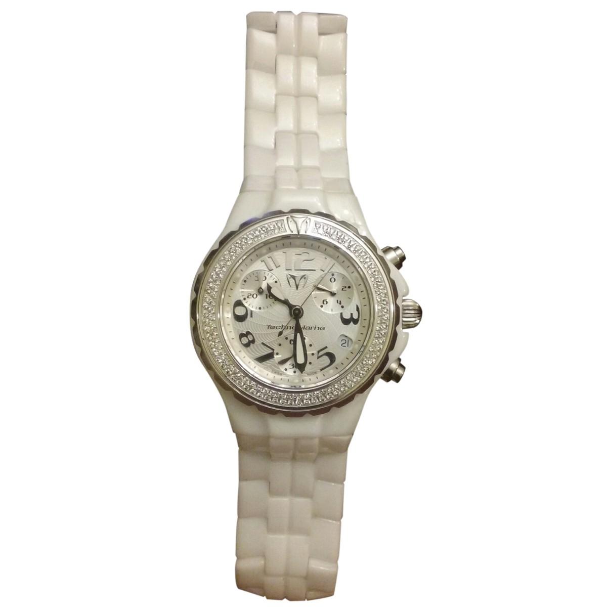 Technomarine, Genève \N White Ceramic watch for Women \N