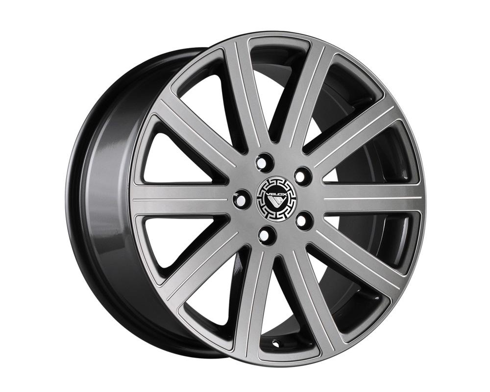 Velox Reflex Gunmetal Ball Cut Machined Wheel 17x7 5x112 42