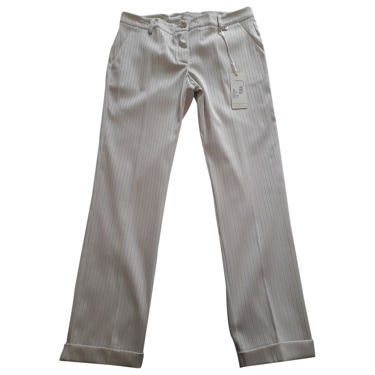 Non Signé / Unsigned \N Beige Trousers for Women 46 IT