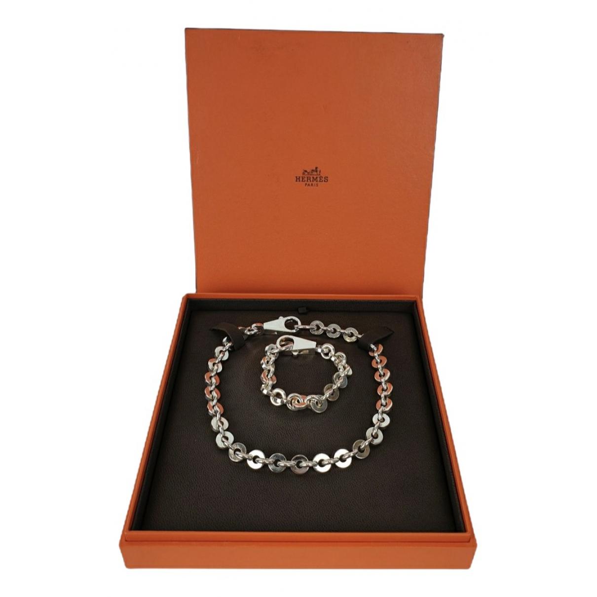 Hermès \N Silver Metal Jewellery set for Women \N