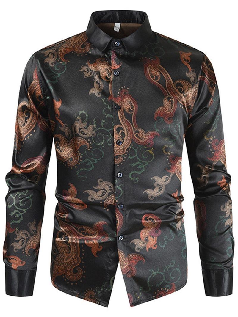 Ericdress Men's Print Fall Slim Shirt