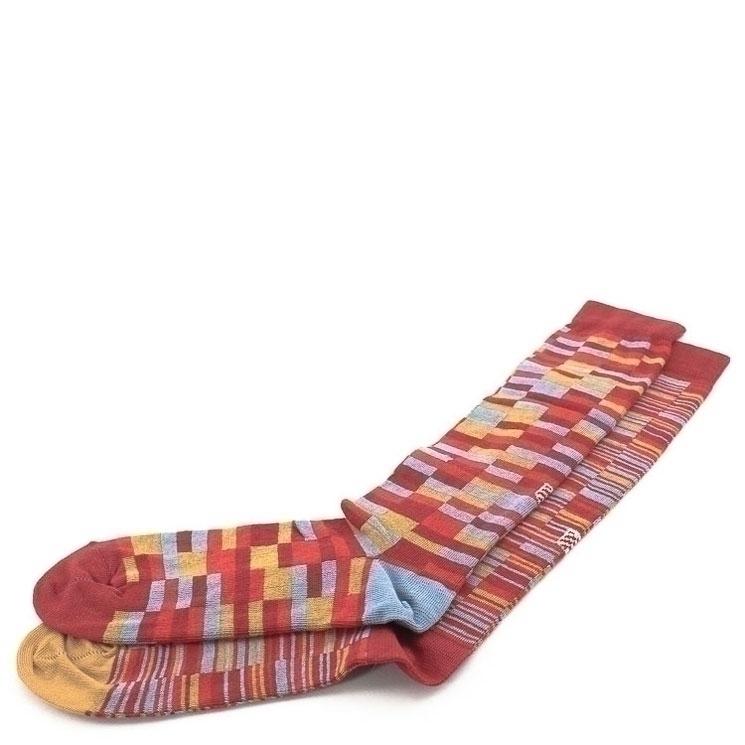 OYBO, Bricks Rubin Unisex Knee Socks, red Größe 39-41
