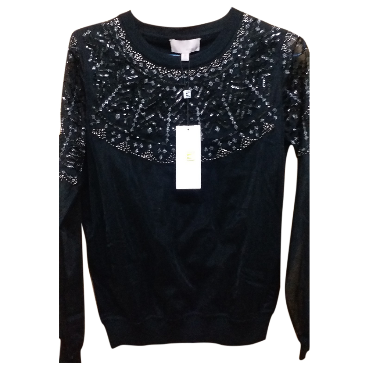 Non Signé / Unsigned \N Black Lace  top for Women 38 FR