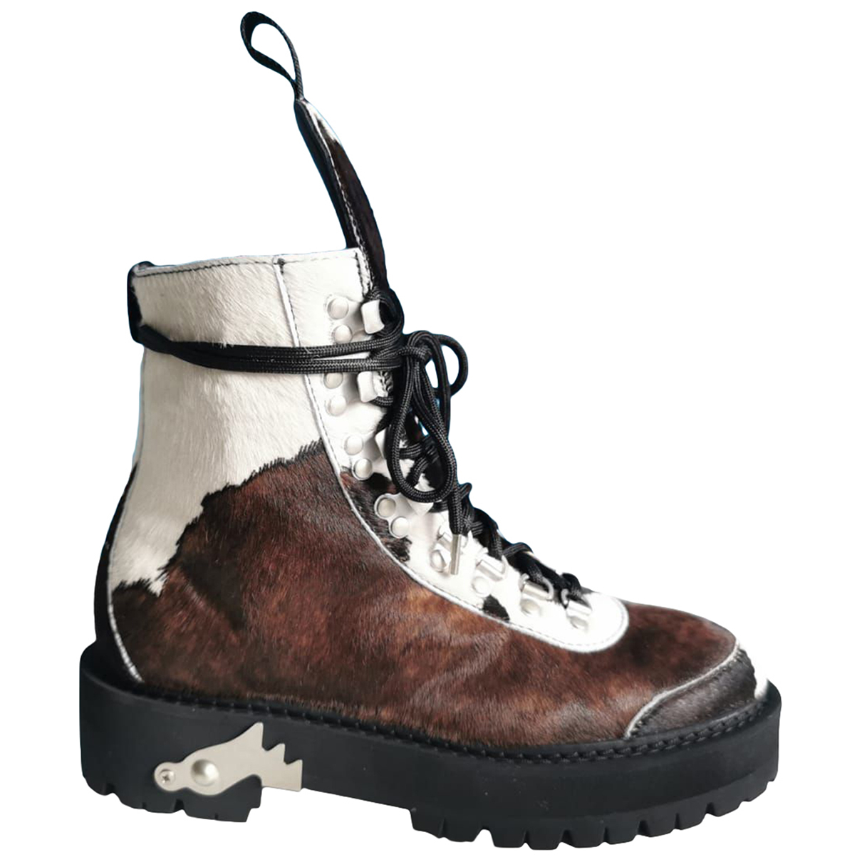 Off-white \N Multicolour Pony-style calfskin Boots for Women 38 EU