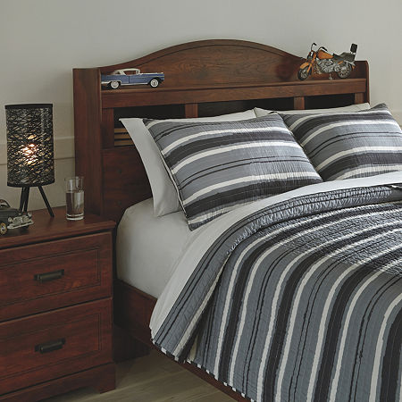 Signature Design by Ashley Merlin Reversible Coverlet Set, One Size , Multiple Colors