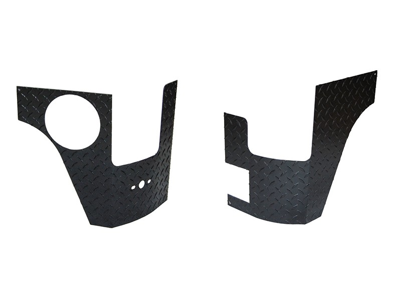 Warrior Products 926PC Rear Corners Without Holes Aluminum Black Diamond Plate Jeep JK Wrangler 4 Door 07-17