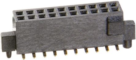 HARWIN 1.27mm Pitch 20 Way 2 Row Straight PCB Socket, Surface Mount, Solder Termination