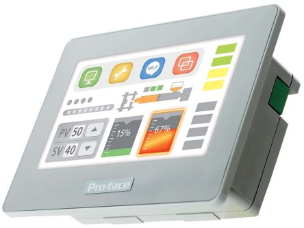 Pro-face GP4100 Series Touch Screen HMI - 4.3 in, TFT LCD Display, 480 x 272pixels