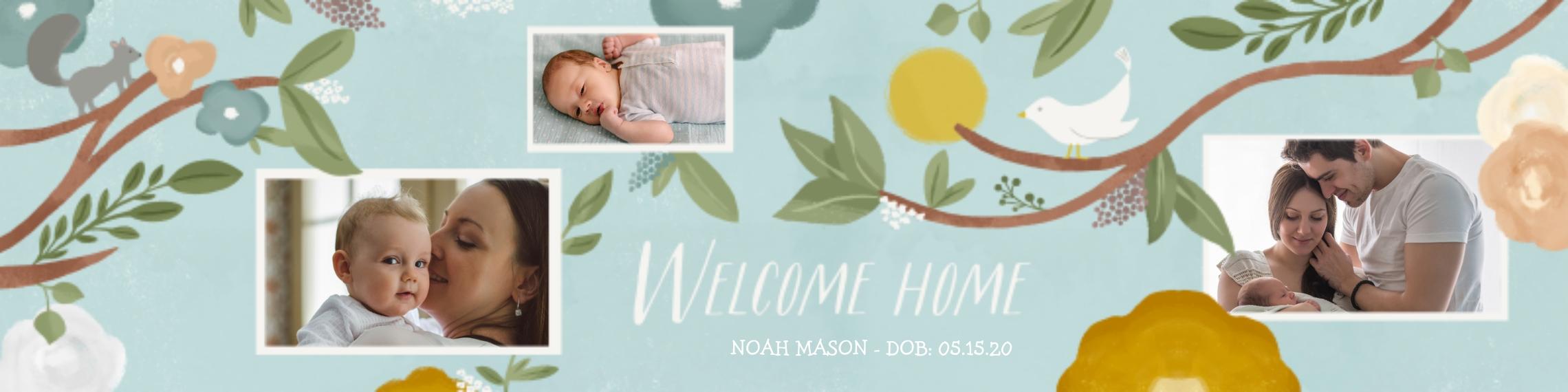 Baby + Kids Vinyl Banner, 2x8, Home Décor -Watercolor Welcome