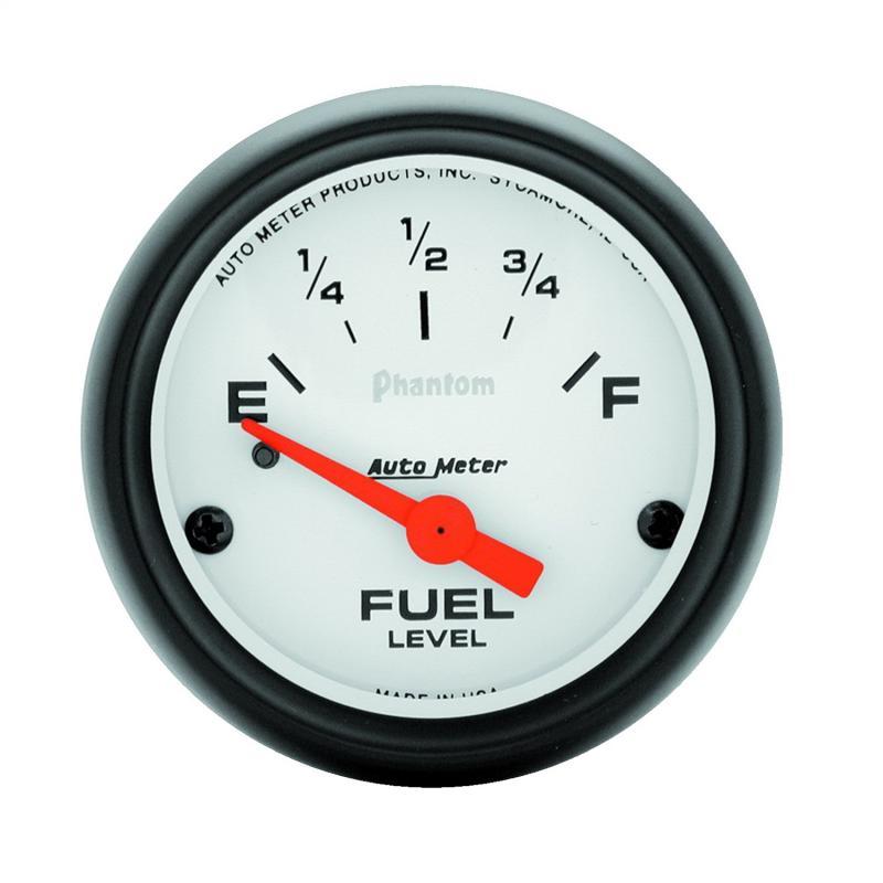 AutoMeter GAUGE; FUEL LEVEL; 2 1/16in.; 0OE TO 30OF; ELEC; PHANTOM