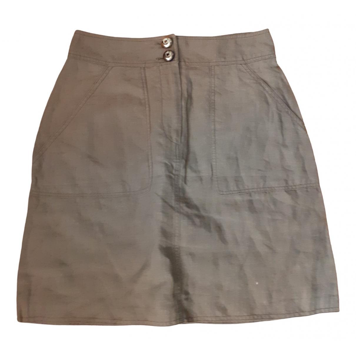Tara Jarmon \N Grey Linen skirt for Women 40 FR