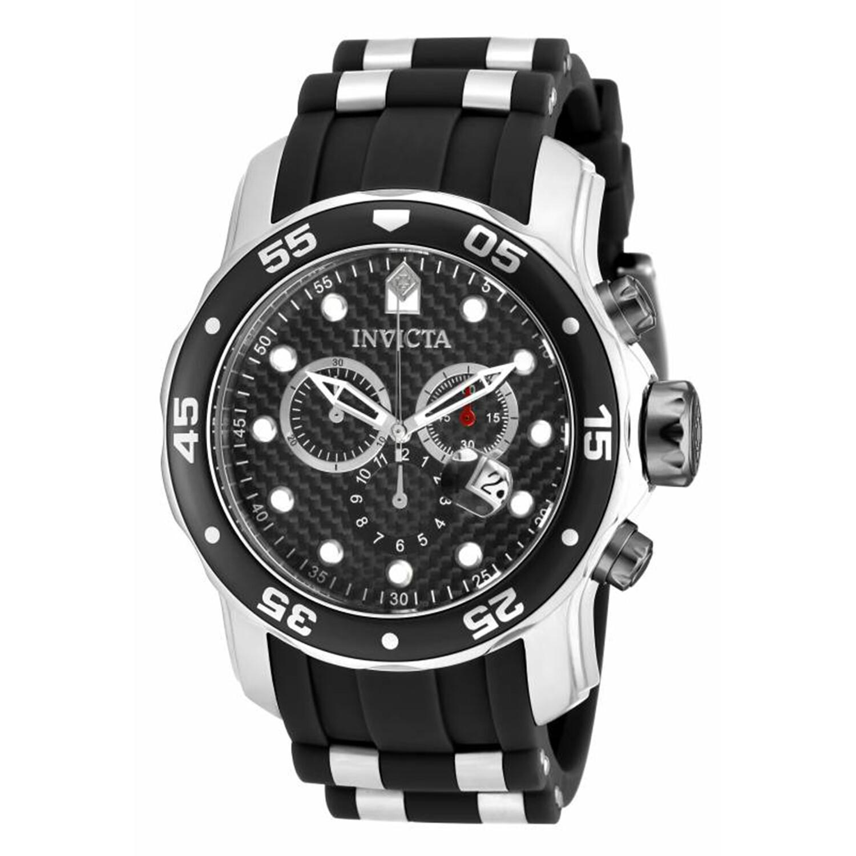 Invicta Men's Pro Diver 17879 Black Polyurethane Swiss Parts Chronograph Diving Watch