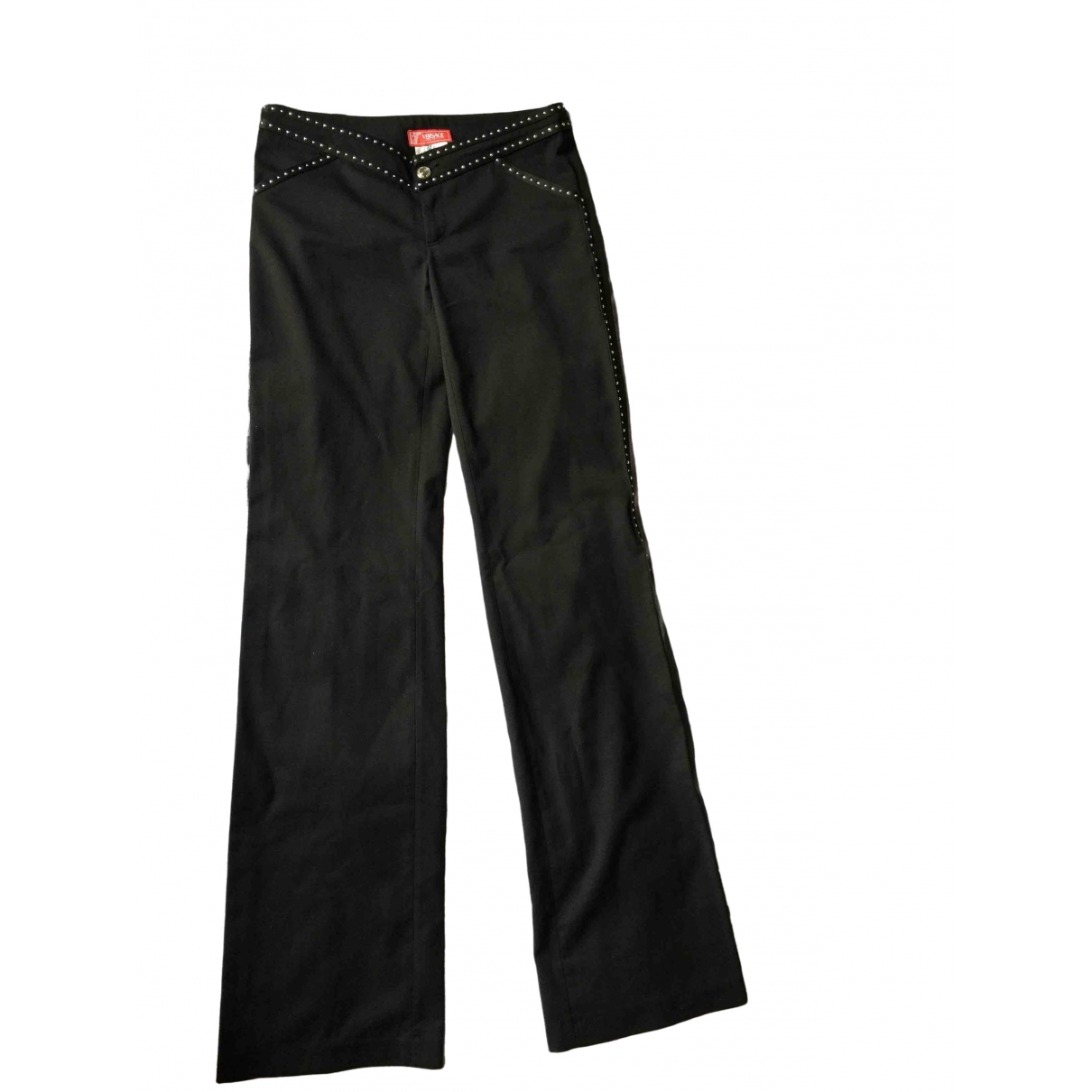 Versace Jeans \N Black Wool Trousers for Women 38 IT