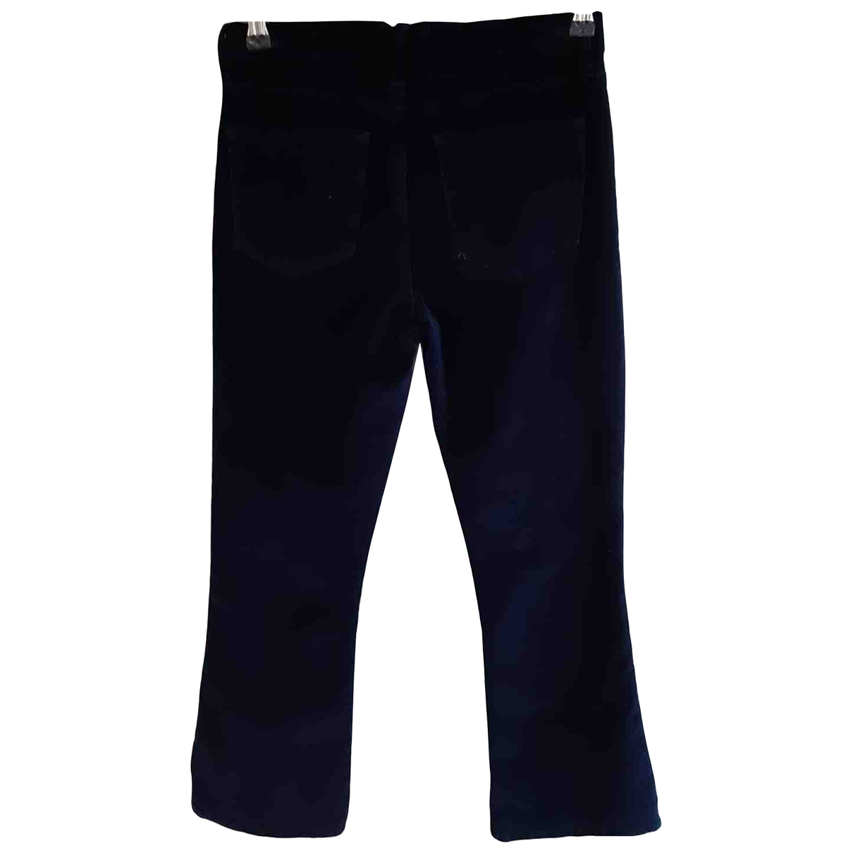 Frame Denim \N Blue Cotton Trousers for Women 36 FR
