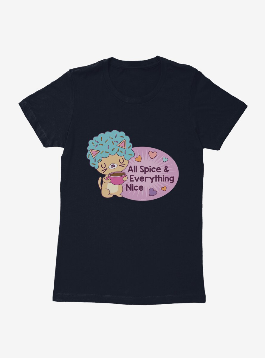 Afro Cat All Spice And Everything Nice Womens T-Shirt