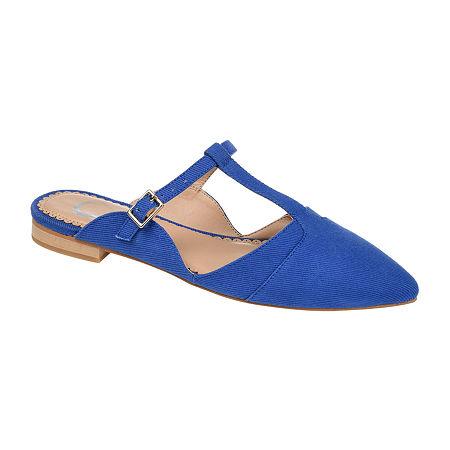 Journee Collection Womens Fernn Mules, 7 Medium, Blue