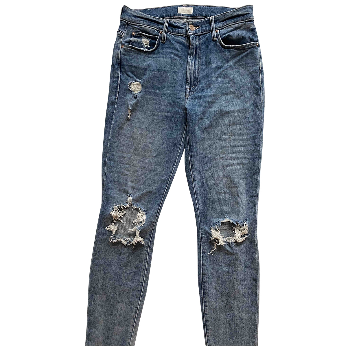M\N Blue Cotton - elasthane Jeans for Women 26 US