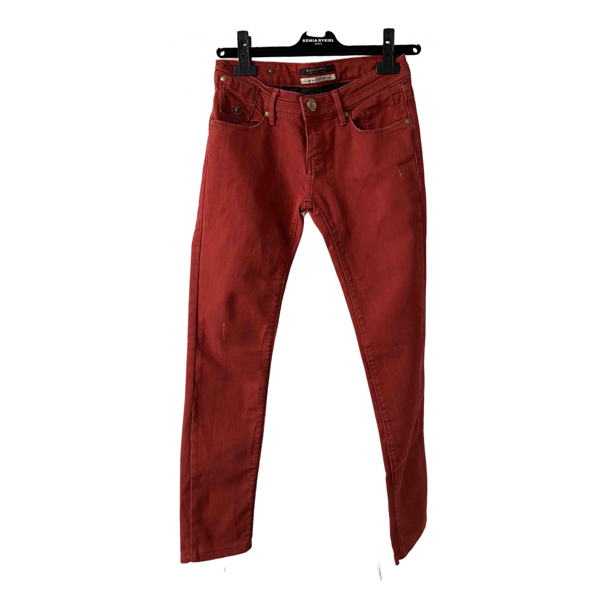 Maison Scotch \N Red Cotton Jeans for Women 25 US