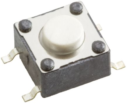 Wurth Elektronik White Tactile Switch, Single Pole Single Throw (SPST) 50 mA @ 12 V dc 0.9mm Surface Mount
