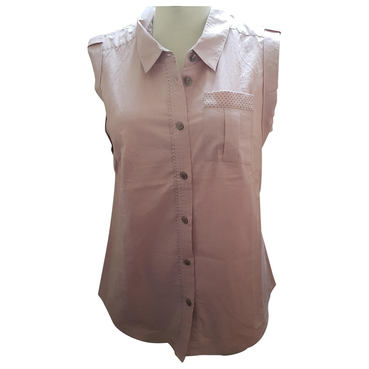 Maje \N Pink Cotton  top for Women L International
