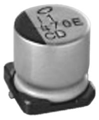 Nichicon 22μF Electrolytic Capacitor 100V dc, Surface Mount - UCD2A220MNL1GS (10)