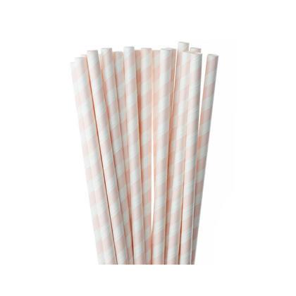 Pailles rayées à boire du papier 7.8 * 0.3