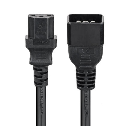 IEC C13 to IEC C20 Power Cable - 14AWG SJT ,3ft black PrimeCables®
