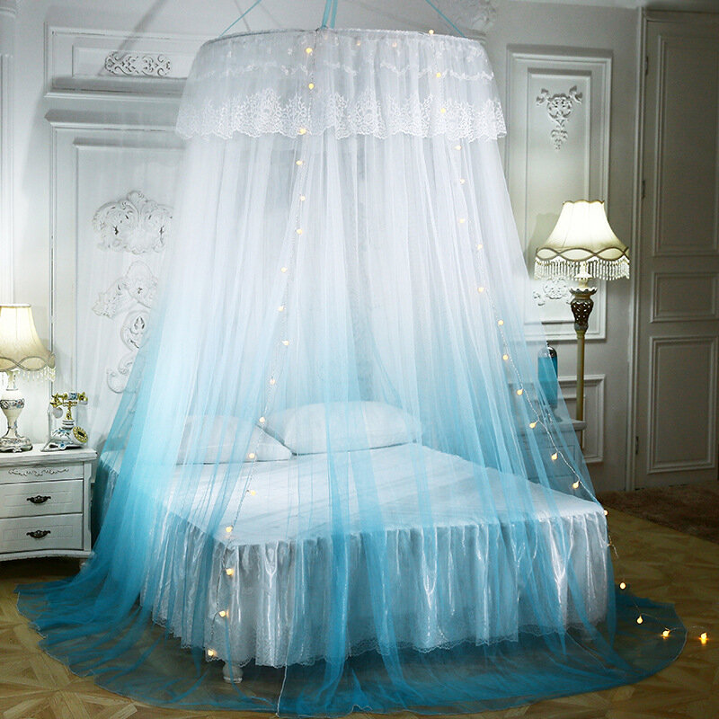 Dome Mosquito Net Floor Hanging Ceiling Mosquito Net Gradient Two-color Lace Mosquito Net