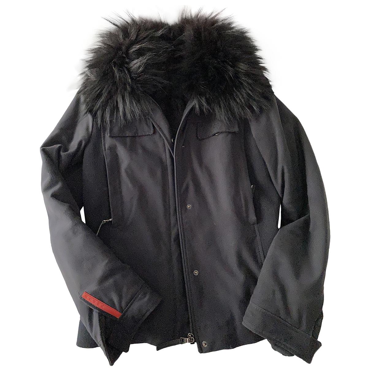 Prada \N Black Leather jacket for Women 40 IT