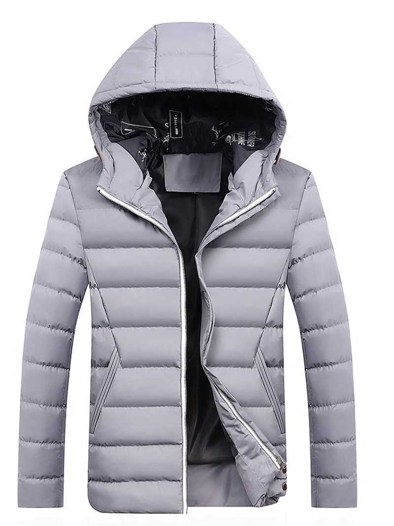 Ericdress Standard Plain European Zipper Men's Down Jacket