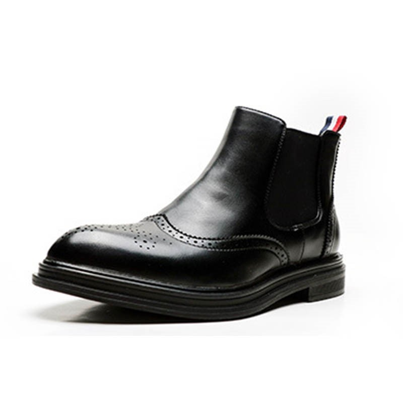 Ericdress Patchwork Pointed Toe Slip-On Men's Boots